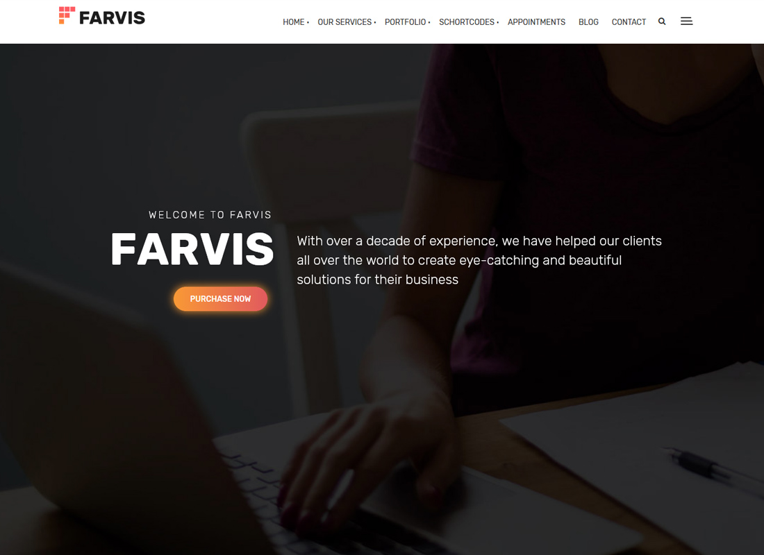 Farvis - Thème WordPress multi-usage