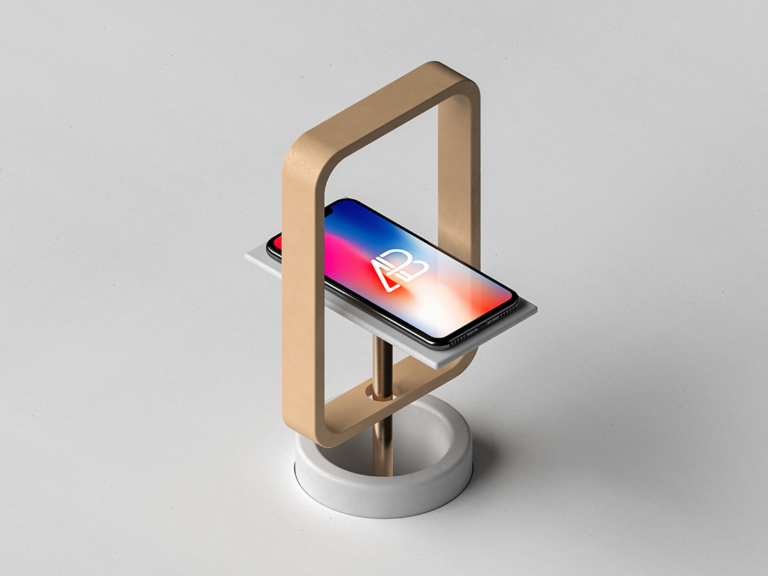 Maquette iPhone X moderne