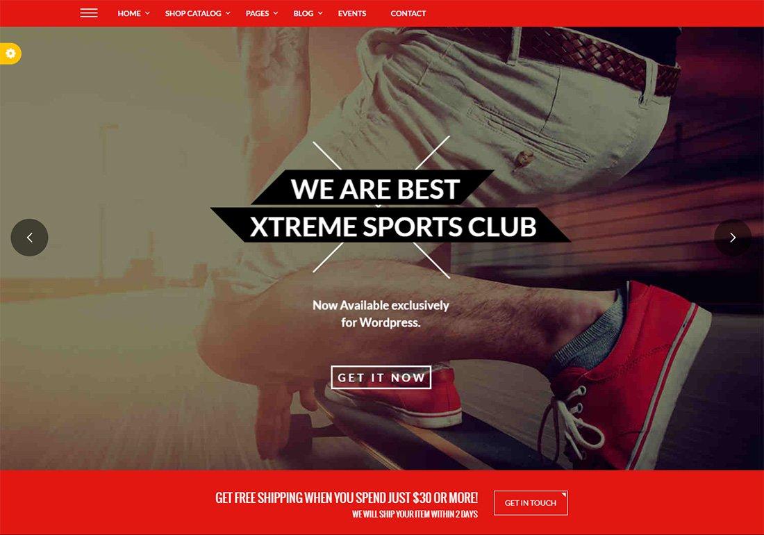 Xtreme Sports WordPress Golf Thème
