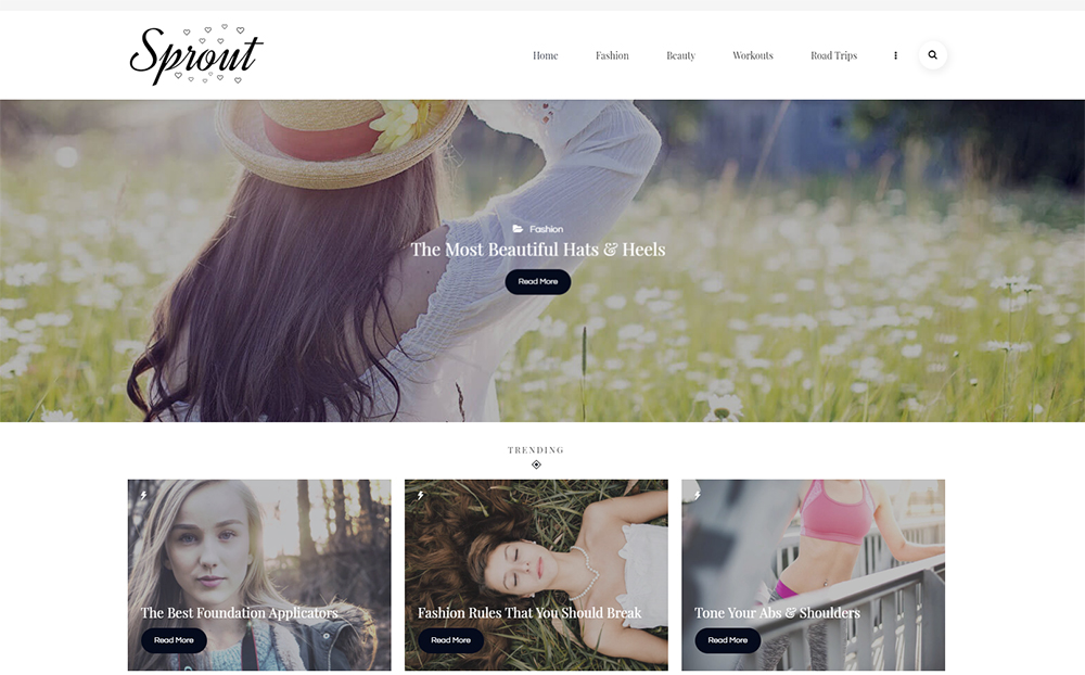 Sprout - Blog personnel Thème WordPress