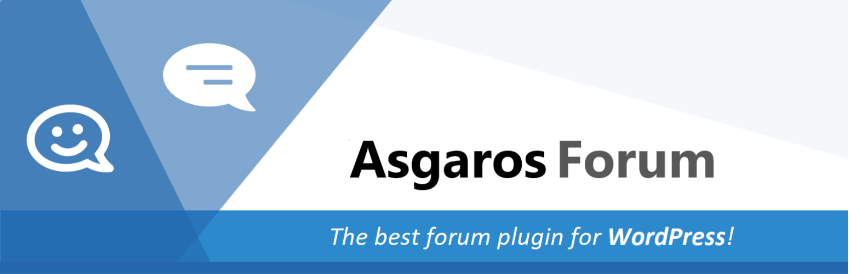 Le plugin Asgaros Forum.