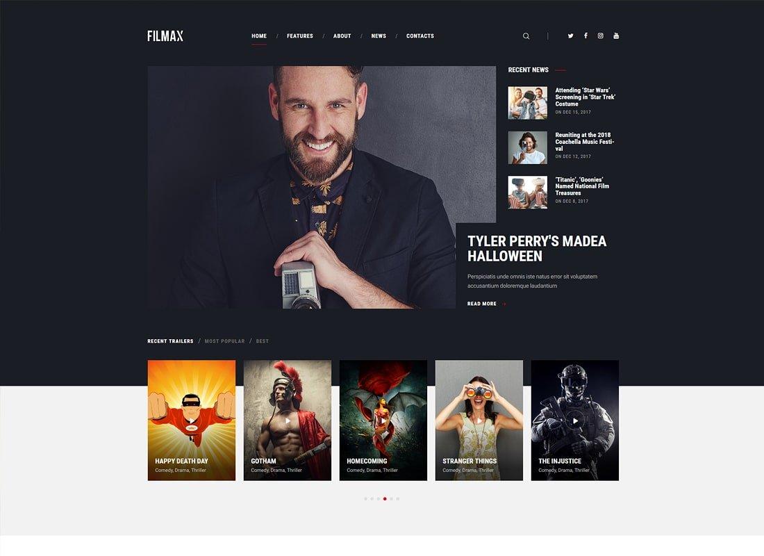 Filmax | Thème WordPress pour magazine de cinéma