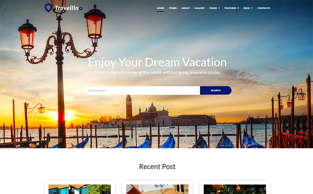 Travellino - Travel Company Elementor Thème WordPress