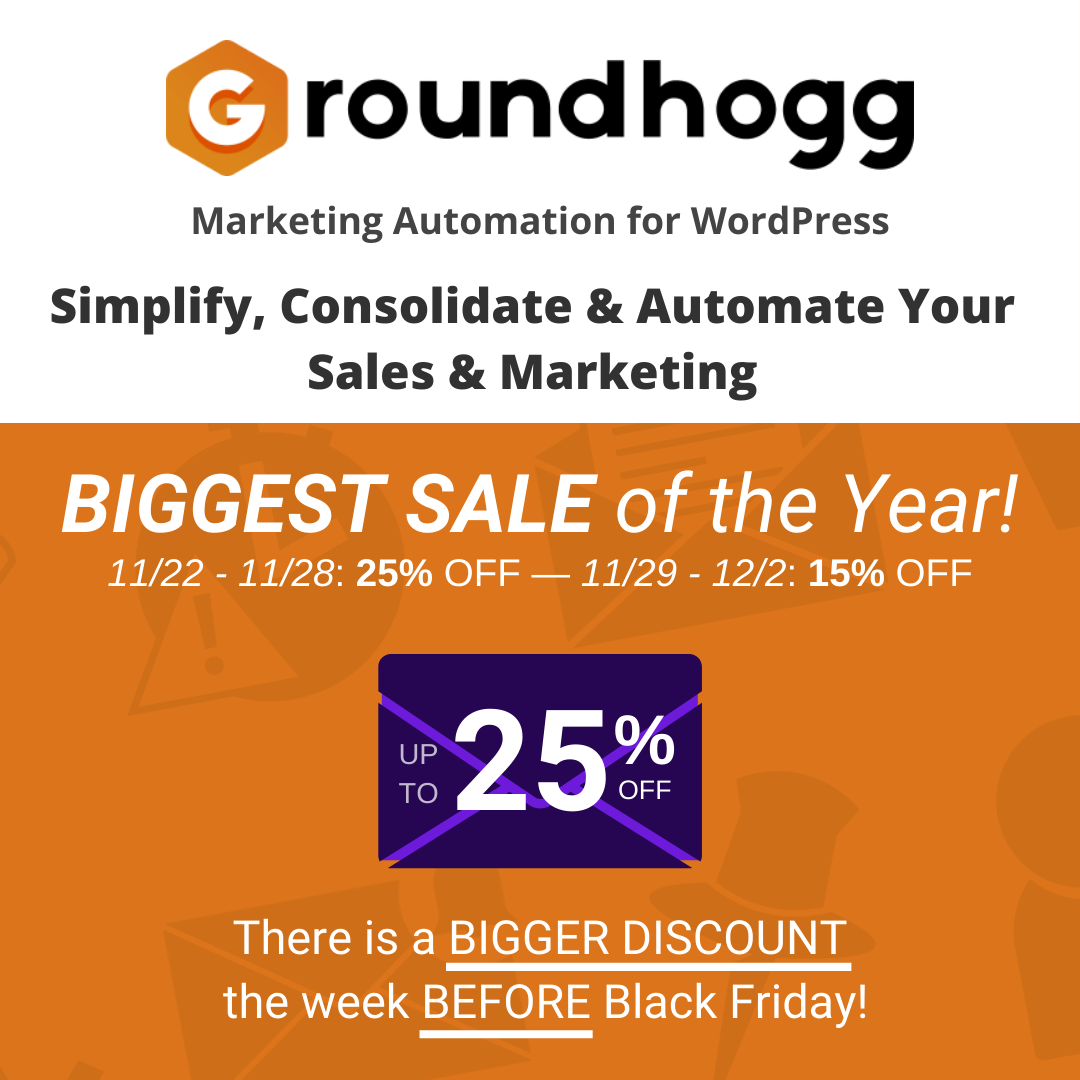 """groundhogg"""" width=""""1080"""" height=""""1080"""" srcset=""""https://webypress.fr/wp-content/uploads/2019/11/Black-Friday-Offres-WordPress-amp-Offres-2019.png 1080w, https://colorlib.com/wp/wp-content/uploads/sites/2/groundhogg-bf2019-300x300.png 300w, https://colorlib.com/wp/wp-content/uploads/sites/2/groundhogg-bf2019-1024x1024.png 1024w, https://colorlib.com/wp/wp-content/uploads/sites/2/groundhogg-bf2019-150x150.png 150w, https://colorlib.com/wp/wp-content/uploads/sites/2/groundhogg-bf2019-768x768.png 768w, https://colorlib.com/wp/wp-content/uploads/sites/2/groundhogg-bf2019-600x600.png 600w, https://colorlib.com/wp/wp-content/uploads/sites/2/groundhogg-bf2019-100x100.png 100w"""" data-lazy-sizes=""""(max-width: 1080px) 100vw, 1080px"""" src=""""https://webypress.fr/wp-content/uploads/2019/11/Black-Friday-Offres-WordPress-amp-Offres-2019.png""""/></p> <p><noscript><img class="""