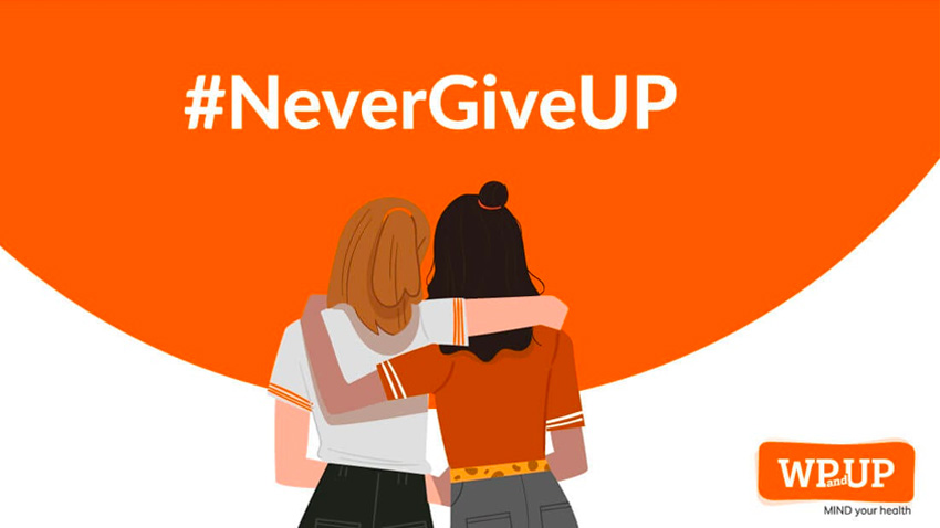 Campagne #nevergiveup pour WP & UP octobre 2019