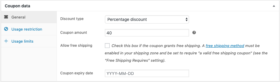 Coupons WooCommerce
