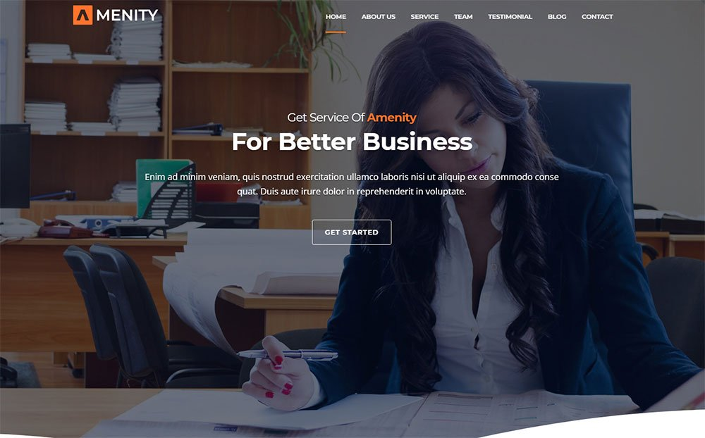 Amenity - Thème WordPress Business One Page