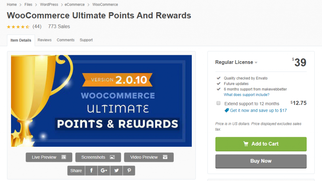Plugins de points et de récompenses WooCommerce