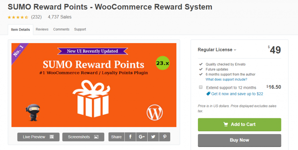 Plug-ins WooCommerce Points and Rewards