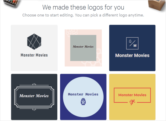 Logos pour Monster Movies créés par Hatchful