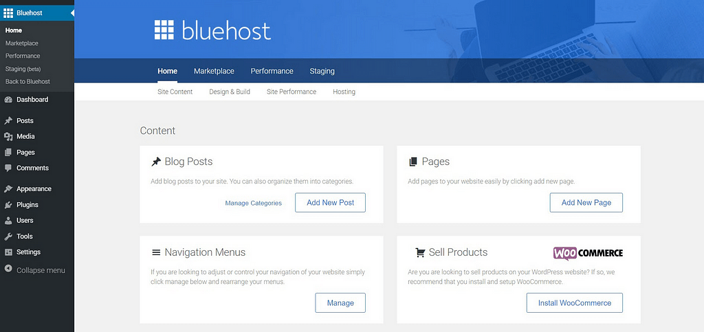 Menu DreamHost vs Bluehost