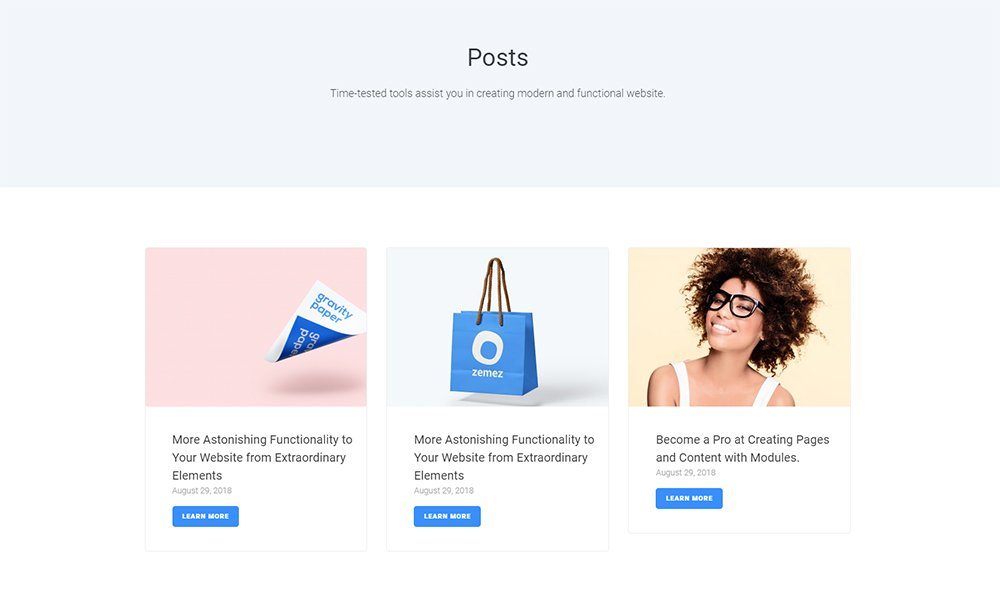 Blogster - Posts Jet Sections Elementor Template