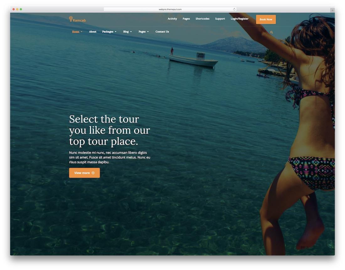 modèle de site Web de l'hôtel ramcab html5
