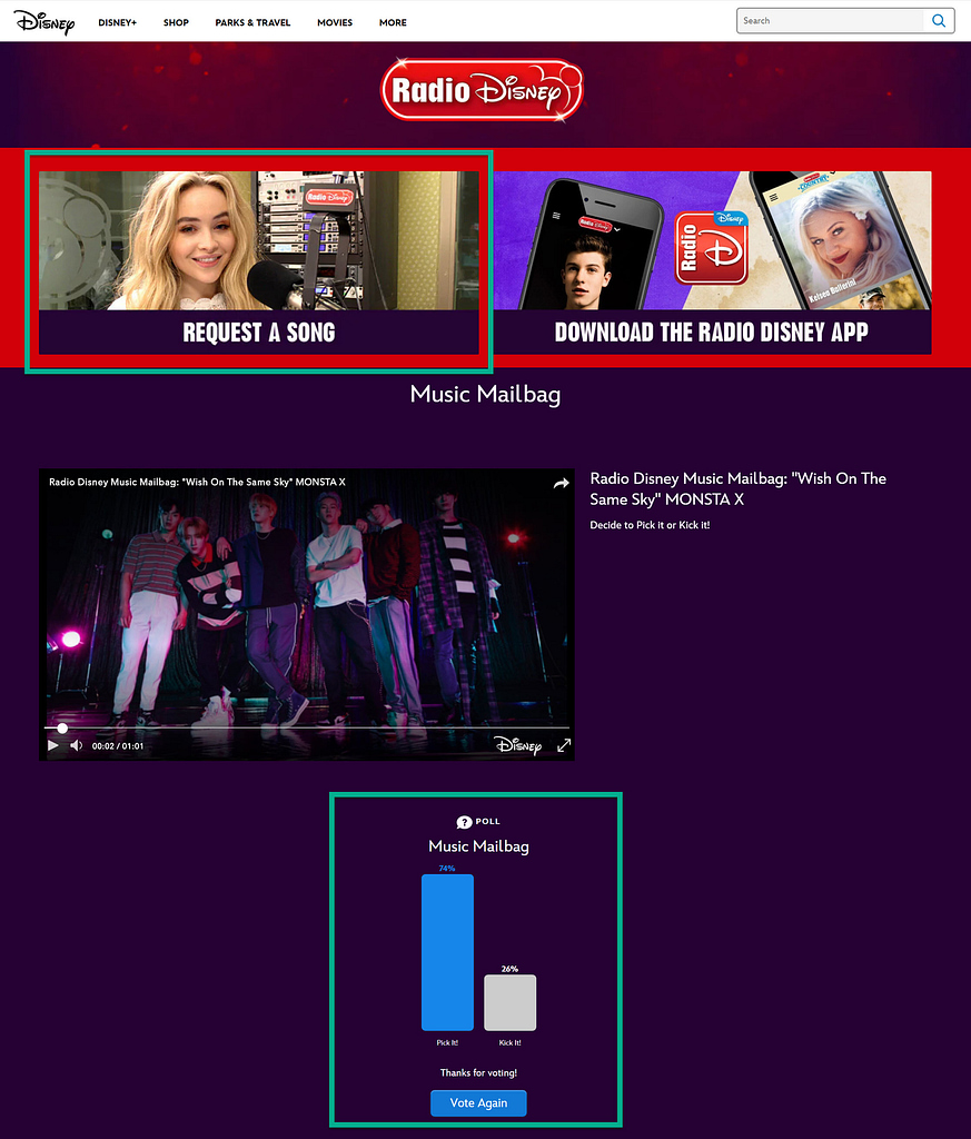 exemple de radio disney