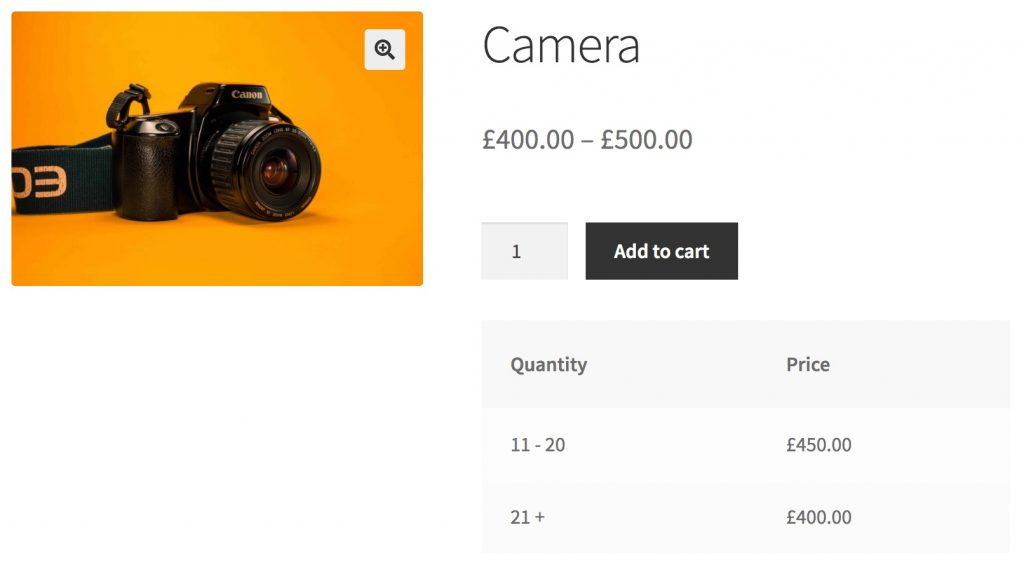 Plugins WooCommerce Tiered Pricing Table