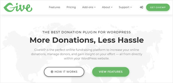Site Web du plug-in GiveWP