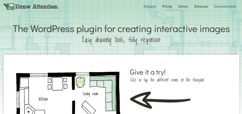 Le plugin d'image interactive WP Draw Attention pour WordPress.