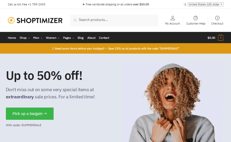 Thème WordPress Shoptimizer