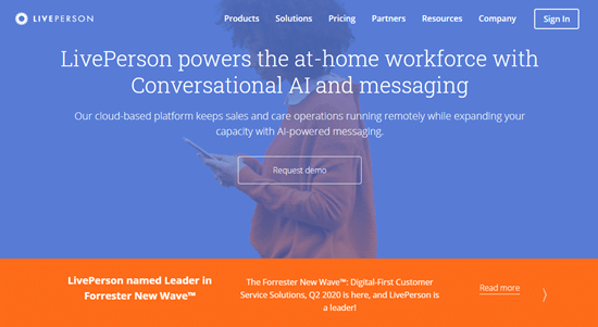 The LivePerson website